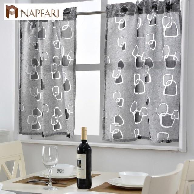 Short Kitchen Curtains Jacquard Window Treatments Modern