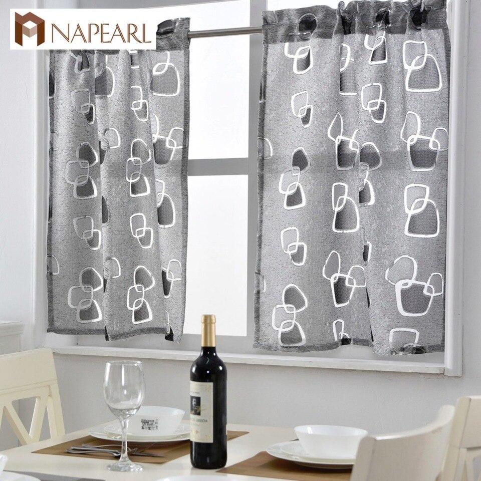 Short Kitchen Curtains Jacquard Window