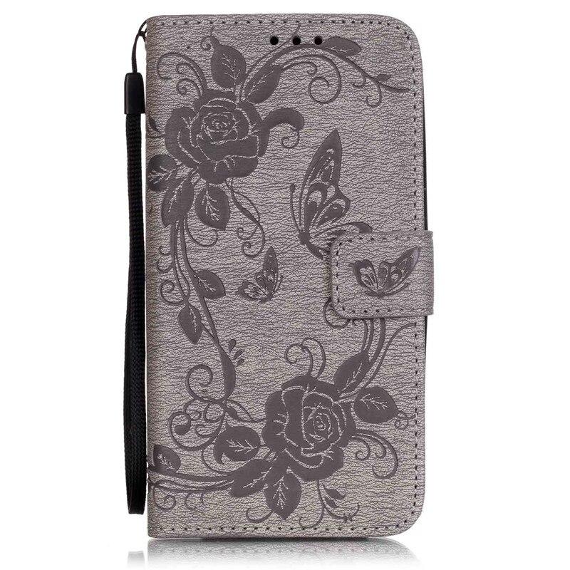 Двойной узор бабочка цветок Мягкий силиконовый чехол для LG K7 X210 X210DS  MS330 кожаный чехол губы кошелек стенд с Ремешок 5d203748426