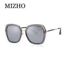 MIZHO Shine Driving Tinted Polarized Sunglasses For Women Party UV Transparent Shining Crystal Design Female Glasses Visual