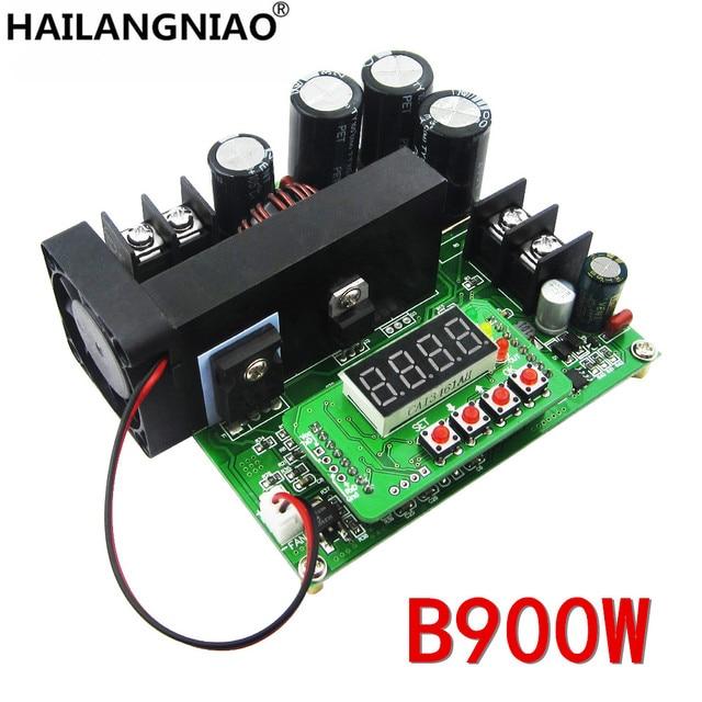 B900W入力8〜60ボルトに10 120ボルト900ワットdcコンバータ高精密led制御ブーストコンバータdiy電圧トランスモジュールレギュレータ