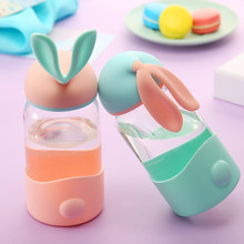 Креативные милые бутылки для воды с кроликом, портативные мини-чашки для детей, для занятий спортом на открытом воздухе, инструменты для улицы