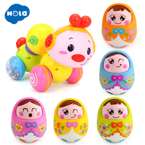 Cartoon Tumbler Doll Roly-poly Mobile Musical Rattles Toys For baby &  Bebe Worm Press function with music/light
