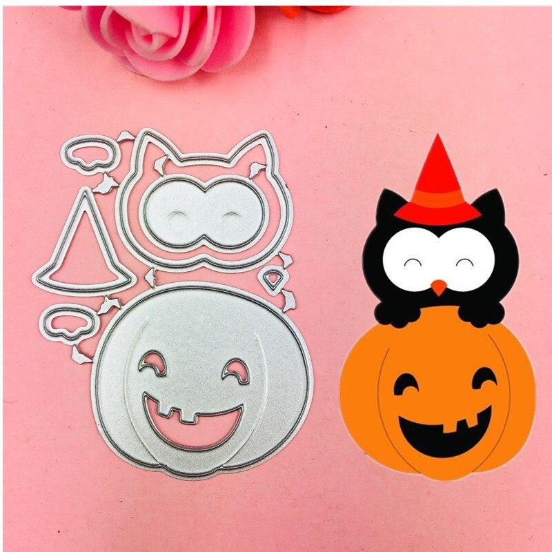 Halloween Pumpkin Bow Ear Cutting Dies Stencils for DIY Scrapbooking/photo album Decorative Embossing DIY Paper Cards