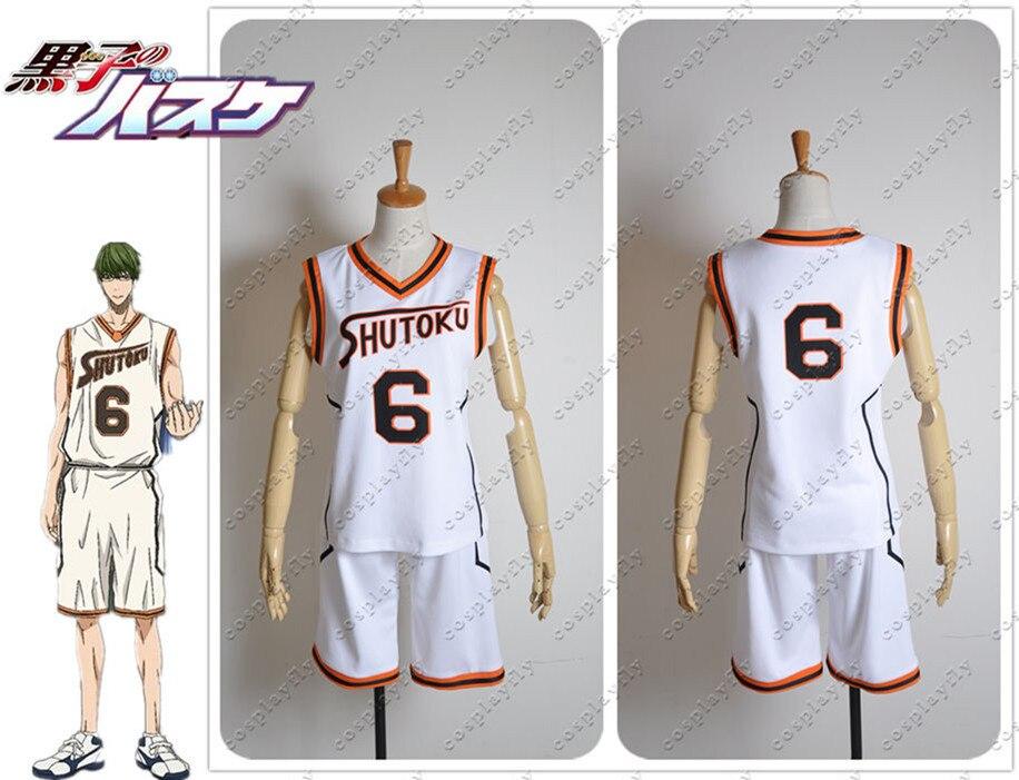 Kuroko no Basuke Kuroko Midorima Shintaro NO.6 Cosplay Costume Jersey Top Shorts Men Cloth  (C0273)  (Number can be changed)
