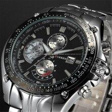 2016 Hot CURREN Marca relogio masculino Reloj Deportivo de Acero Lleno de Los Hombres de Lujo A Estrenar Del Cuarzo Militar Deporte Relojes de Los Hombres Reloj de Pulsera