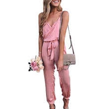 ZYFPGS 2019 Women Bodysuit suit Belt bow Rompers Womens Jumpsuit PersonalitySexy shoulder strap Sale Onesies Sleeveless denim