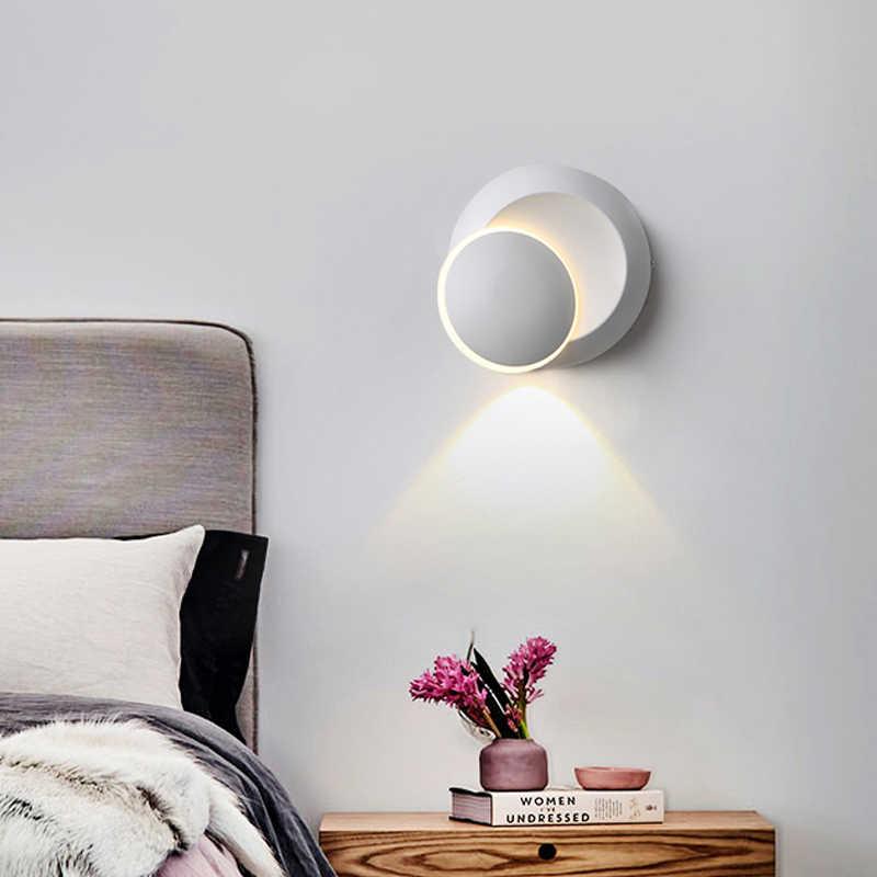 Современные светильники и освещение, светодиодный комнатные настенные лампы для спальни, Поворотный Настенный светильник, лестницы, светодиодный настенный светильник