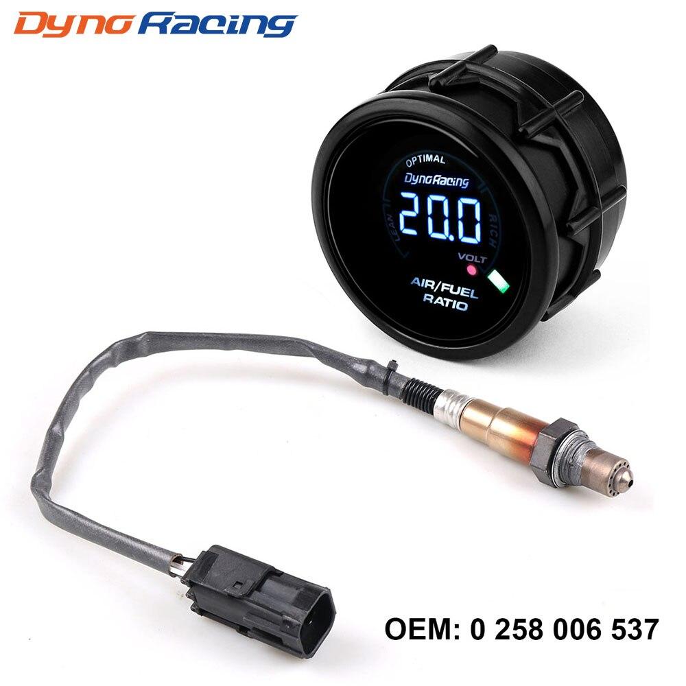 Dynoracing 52 мм цифровой датчик соотношения топлива воздуха узкополосный датчик кислорода O2 для Lada Niva Samara Kalina Priora UAZ OEM: 0258006537