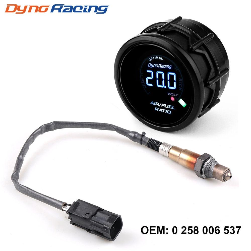 Dynoracing 52mm medidor de relación de combustible de aire Digital banda estrecha Sensor de oxígeno O2 para Lada Niva Samara dalina Priora UAZ OEM: 0258006537