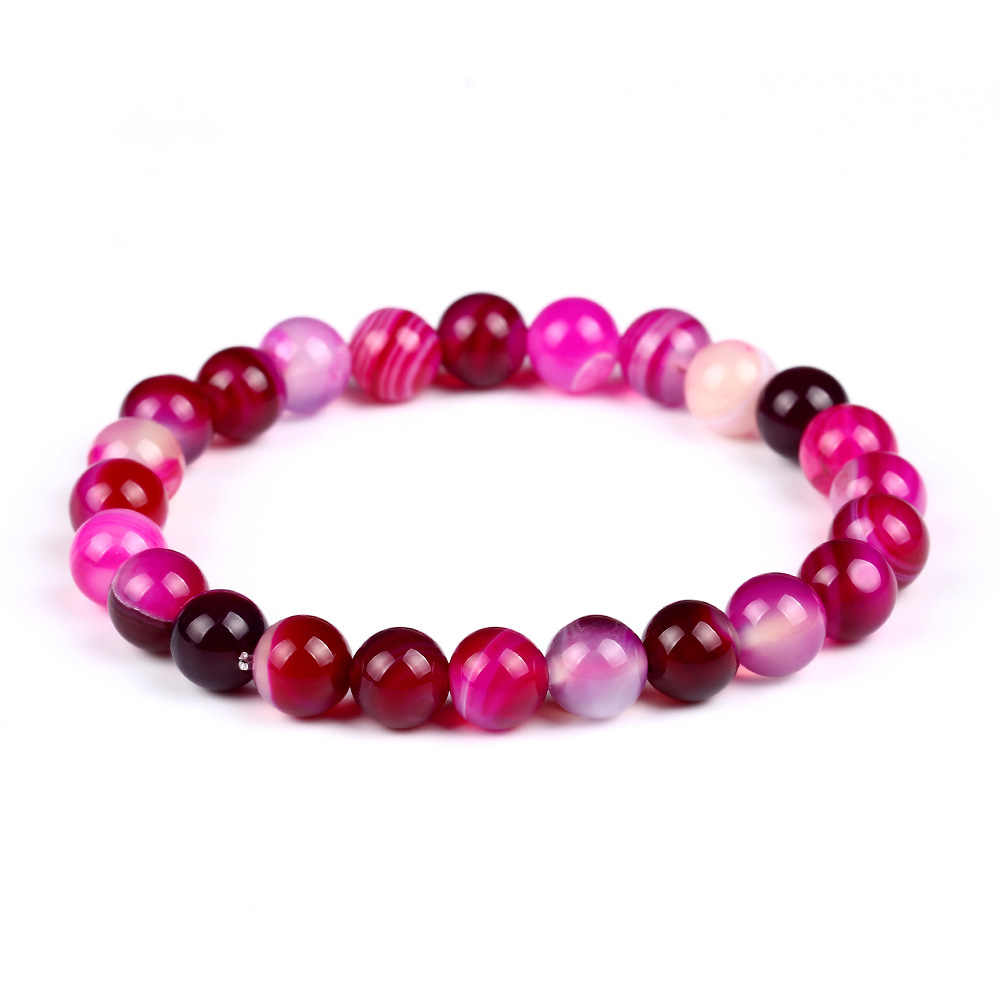 Hot sell obsidian Tiger eye stone melting rock beaded powder crystal jewelry natural stone men and women bracelet