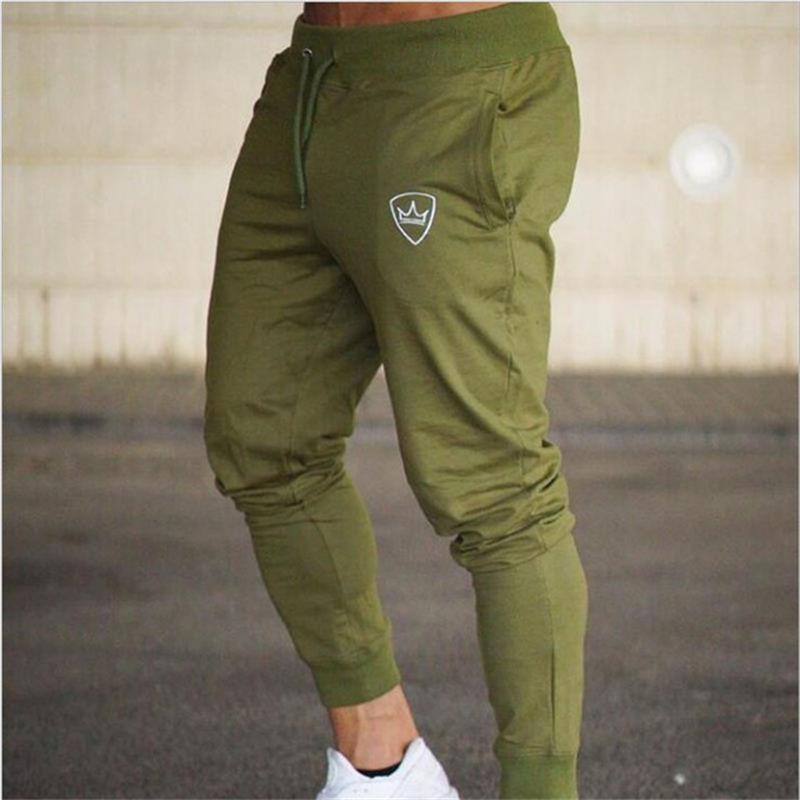 2019 Summer Men's Gym Training Jogging Pants Men Joggers Slim Fit Soccer Sweatpants Cotton Workout Running Tights Sport Trousers