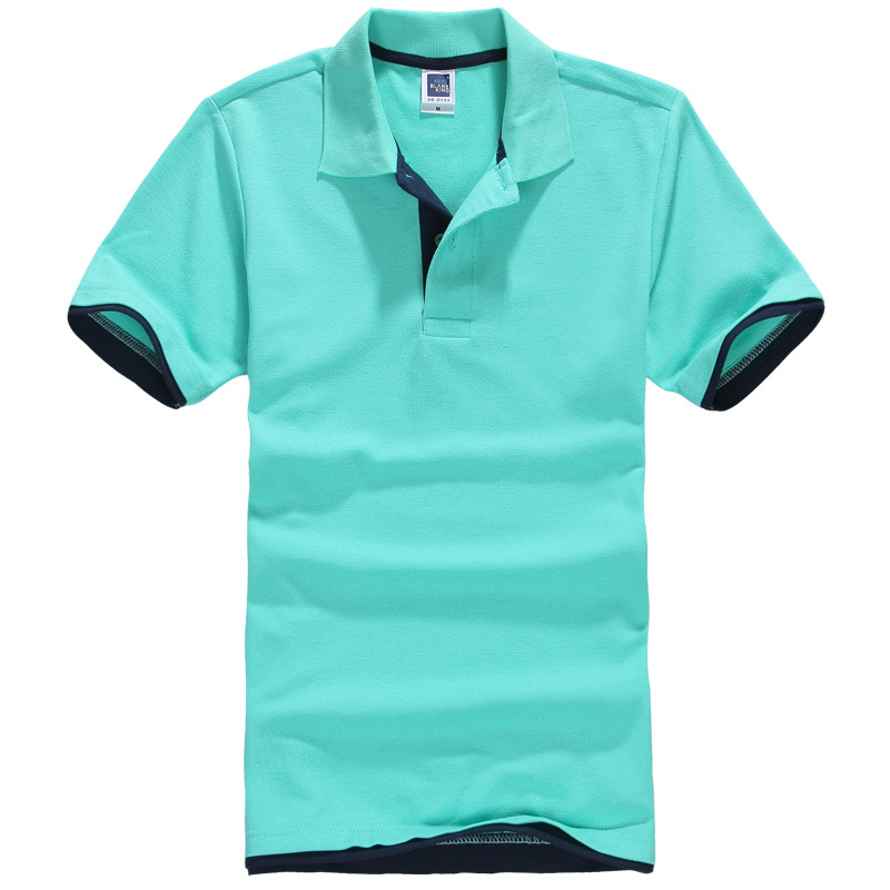 men's   polo   shirts new arrival button short sleeve casual cotton silk slim fit Tops Tees male   polo   shirts summer 35456