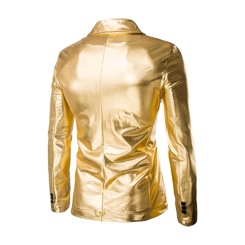 Nacht Tänzerin 49Off Jacke Zwei Bühne Slim Beschichteten Blazer Metallischen Anzug Marke Casual Schwarz Us28 55 Taste Männer Club cool Fit XuPkZOiT