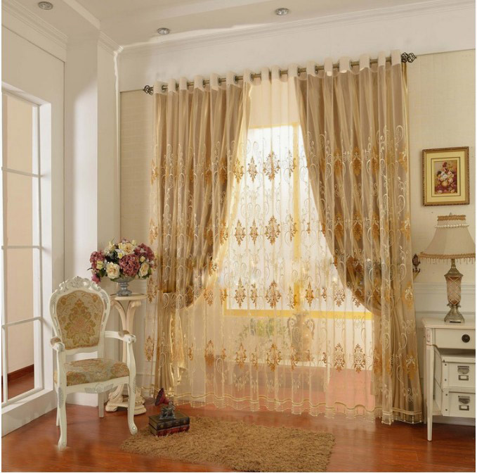 buy curtains for living room bedroom hook grommet top blind curtain sunblind. Black Bedroom Furniture Sets. Home Design Ideas