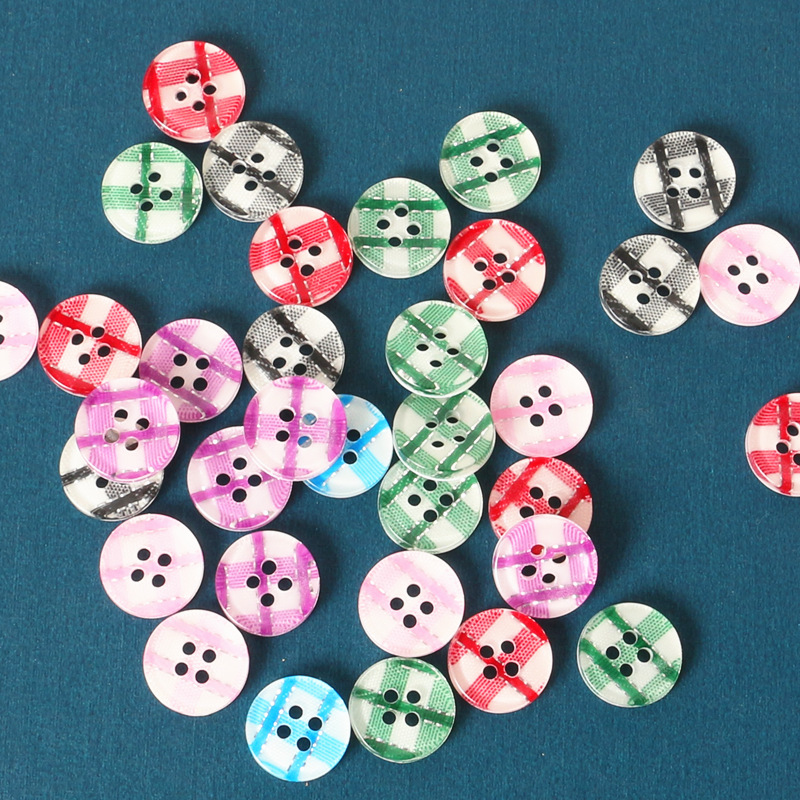 10  Resin Round Black Heart  Buttons 13mm Good Quality Sewing scrapbooking Craft