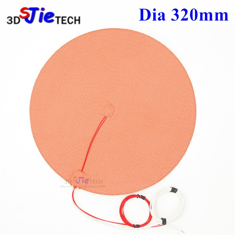 Dia 320mm 330W 120V/220V Round Circular Silicone Heater with Thermistor for TEVO Little Monster 3D Printer HeatBed Heating Pad-in 3D Printer Parts & Accessories from Computer & Office    1