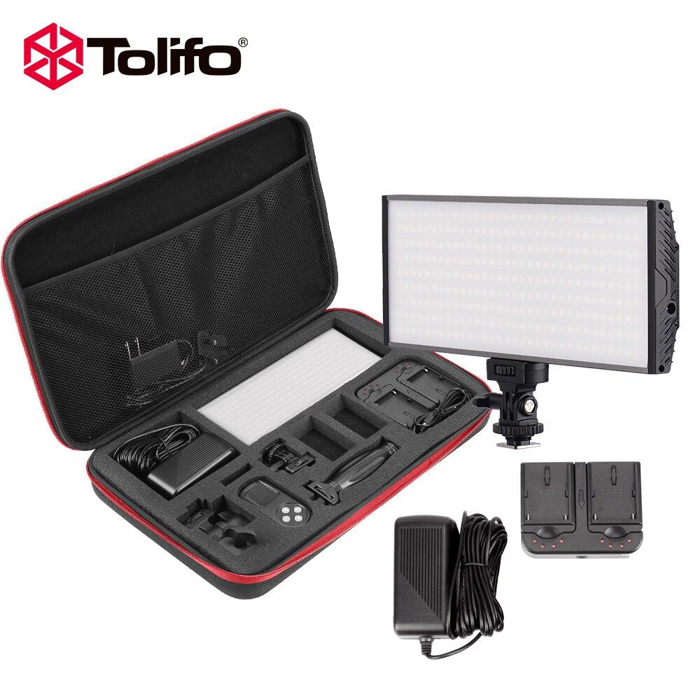 Tolifo Kit de Pt-30b 30 Ws Bi couleur LED lumière vidéo pour appareil photo et caméscope avec Charge de batterie et autres accessoires de photographie