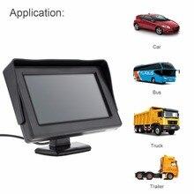 4.3 дюймов DC 6-32 В HD 480×234 Разрешение 2 канала видео Вход TFT-LCD монитор автомобиля для заднего вида Камера/DVD/VCD
