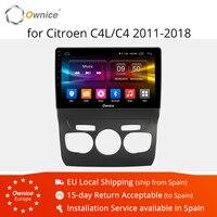 Ownice 4 аппарат не привязан к оператору сотовой связи K1 K2 K3 Android 9,0 навигации плеер 2011 2018 для Citroen C4 C4L Octa core автомобильный DVD радио головное устро