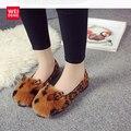 Clásico Mujeres UGS Australia Nieve Del Tobillo de Piel de Plataforma Plana Zapatos de Leopardo de Invierno Casual Algodón Femal ugs Suave Ocasional Impermeable