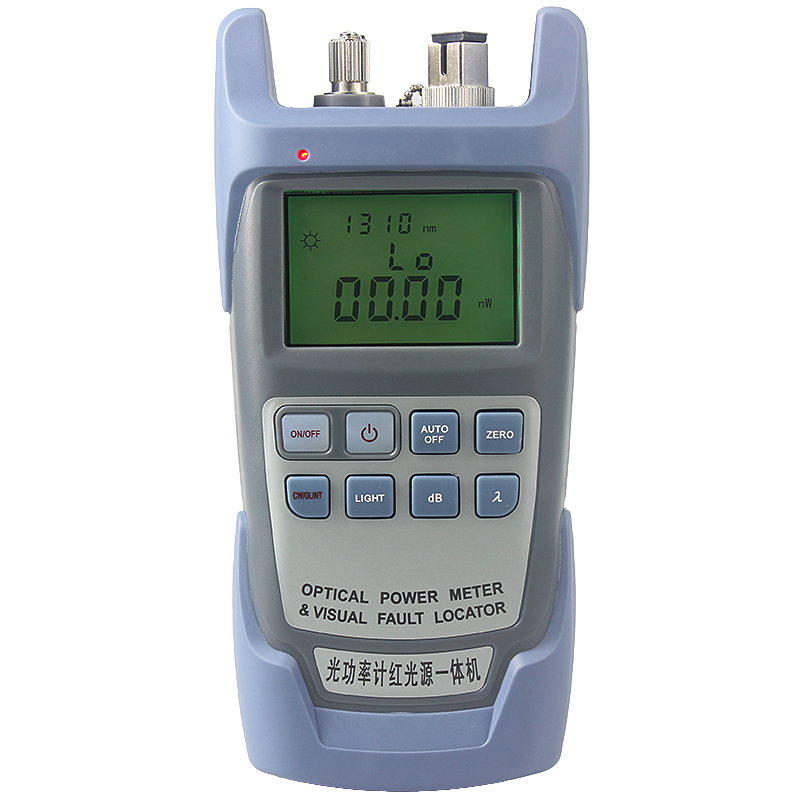 AUA 9 All-in-one Laser Power FTTH Fiber Optic Optical Power Meter Cable Tester 10mw