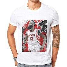 Funny Cartoon Printed Mens T-shirt Fear The Beard Harden T Shirt Men Cotton Shrot James Tshirt Man Tops Tees Hombre Camisetas