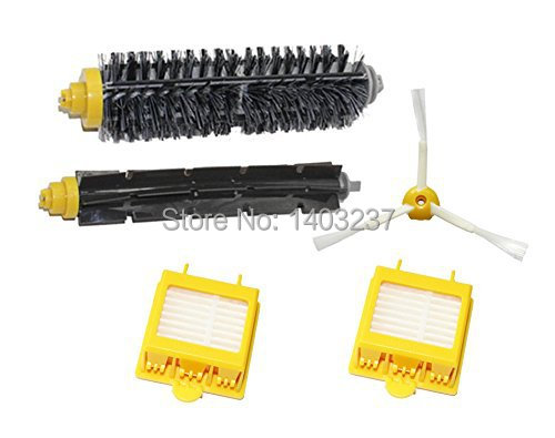 Replacement Hepa Filters Bristle Brush+Flexible Beater Brush+3-Armed Side Brush for iRobot Roomba 700 Series 760 770 780 790 hepa filters bristle brush flexible beater brush 3 armed side brush pack set for irobot roomba 700 series 760 770 780 790