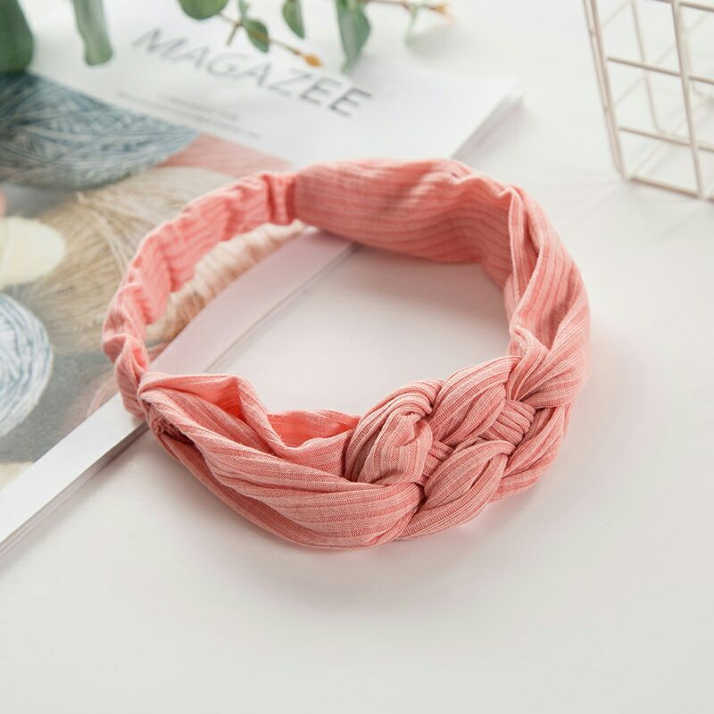New Fashion Women Headbands Solid Color Cross Knot Soft Hairband Turban Elastic Hair Bands Headwrap Girls Hair Accessories