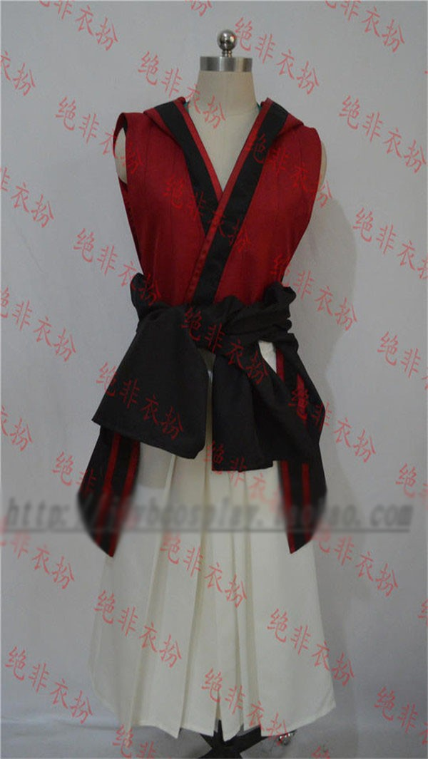Donten ni Warau Soramaru Kumo Dress Uniform Cosplay Anime Costume Red and White Kimono Dress Skirt Free Shipping