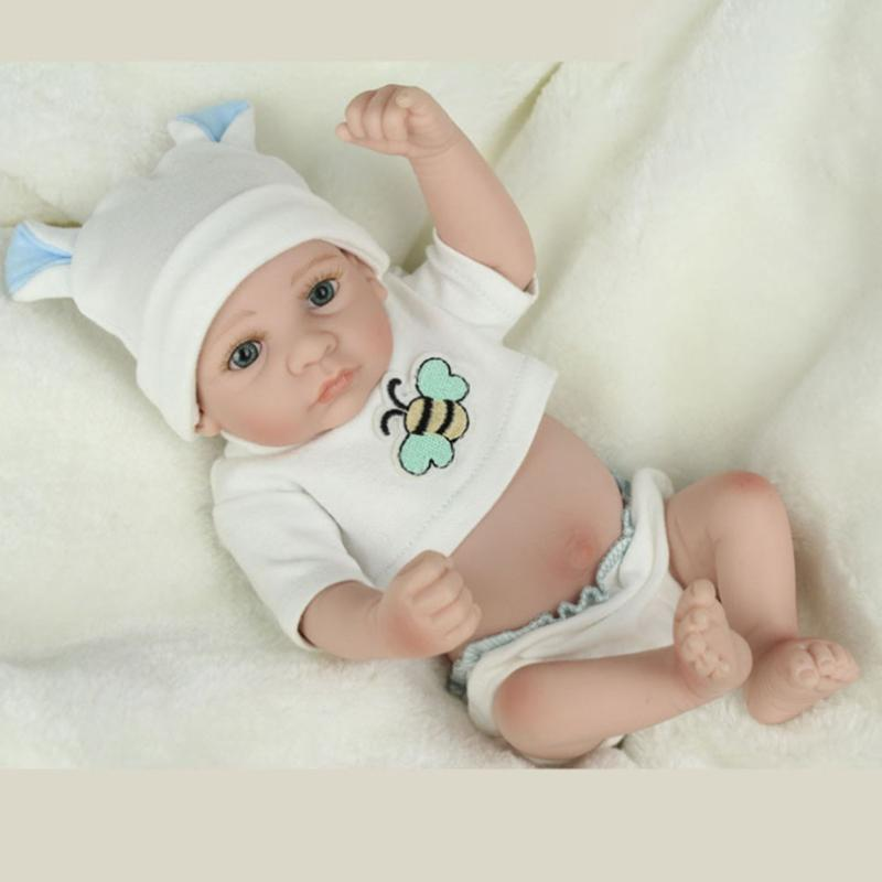 Lovely Silicone Reborn Baby Dolls Realistic Lifelike Reborn Baby Dolls Simulation Doll Toy Infant Gift brinquedos