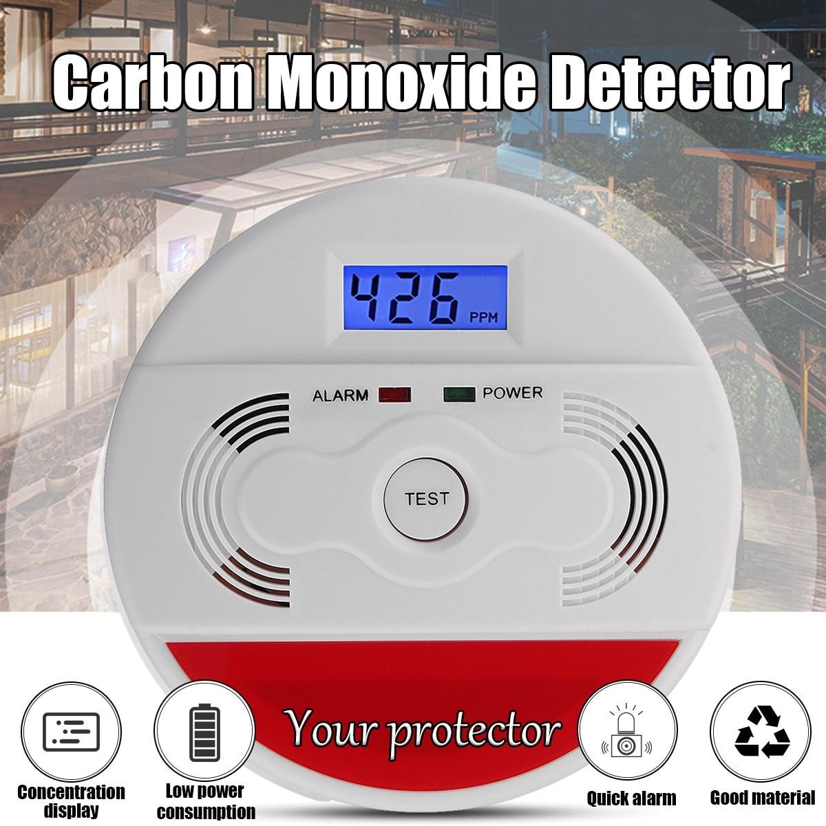 Lovely Home Alarm Lcd Digital Screen 85db Sounder Independent Carbon Monoxide Detector Warning Test Co Gas Leak Detector For Kitchen Carbon Monoxide Detectors Fire Protection