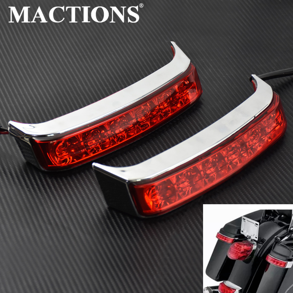 Rear Saddlebag Luggage Tail Light Motorcycle Turn Lamp Lens Cover Chrome Red Black For Harley Touring