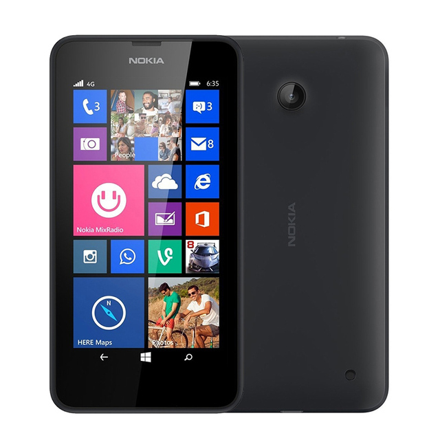 "Original Nokia Lumia 635 Windows Phone 4.5"" Quad Core 1.2GHz 8G ROM 5.0MP WIFI GPS Unlocked 4G LTE Smartphone Refurbished"
