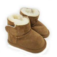 Phanindra Children Boots Thick Warm Shoes Cotton Padded Suede Boys Girls Snow Boots Kids Waterproof Real