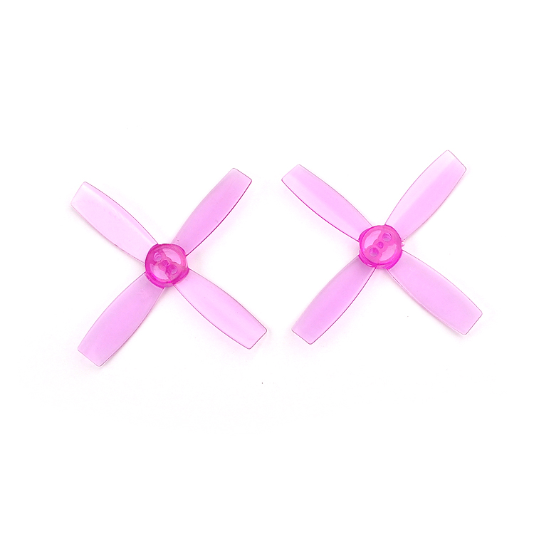 2Pairs 2435 Nylon 4 Blades CW CCW Propeller 2.4 Inch 60mm PC Props for Micro Brushless FPV Drone Quadrocopter
