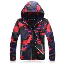 2018 Spring Autumn Mens Casual Camouflage Hoodie Jacket Men Waterproof Clothes Men'S Windbreaker Coat Male Outwear Plus Size 4XL цены