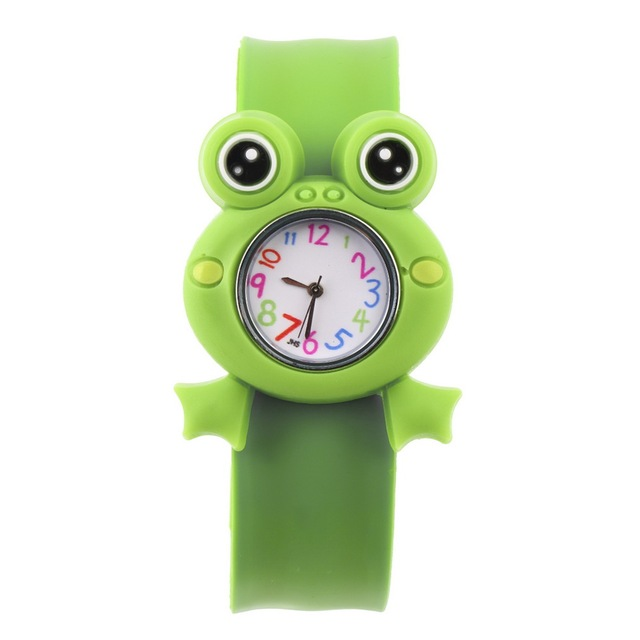 OUTAD 1pcs Slap Snap Silicone Candy Color Wrist Watch Cartoon Cute Animal Pattern Boy Girl For Kids Watches Children relogio