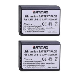 Image 5 - 2x1500mAh LP E10 LPE10 LP E10 كاميرا بطارية Bateria + LCD شاحن USB مزدوج لكانون 1100D 1200D 1300D المتمردين T3 T5 قبلة X50 X70