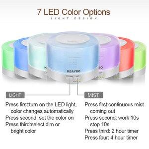 Image 2 - 500 Ml Siêu Âm Không Khí Thơm Máy Phun Sương Tạo Độ Ẩm 7 Màu Đèn LED Thay Đổi Và Kết Nối Bluetooth Phát Nhạc Điện Máy Khuếch Tán Tinh Dầu