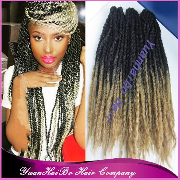 Price 20 Fold Colored Two Tone Kanekalon Marley Twist Ombre Synthetic Braiding