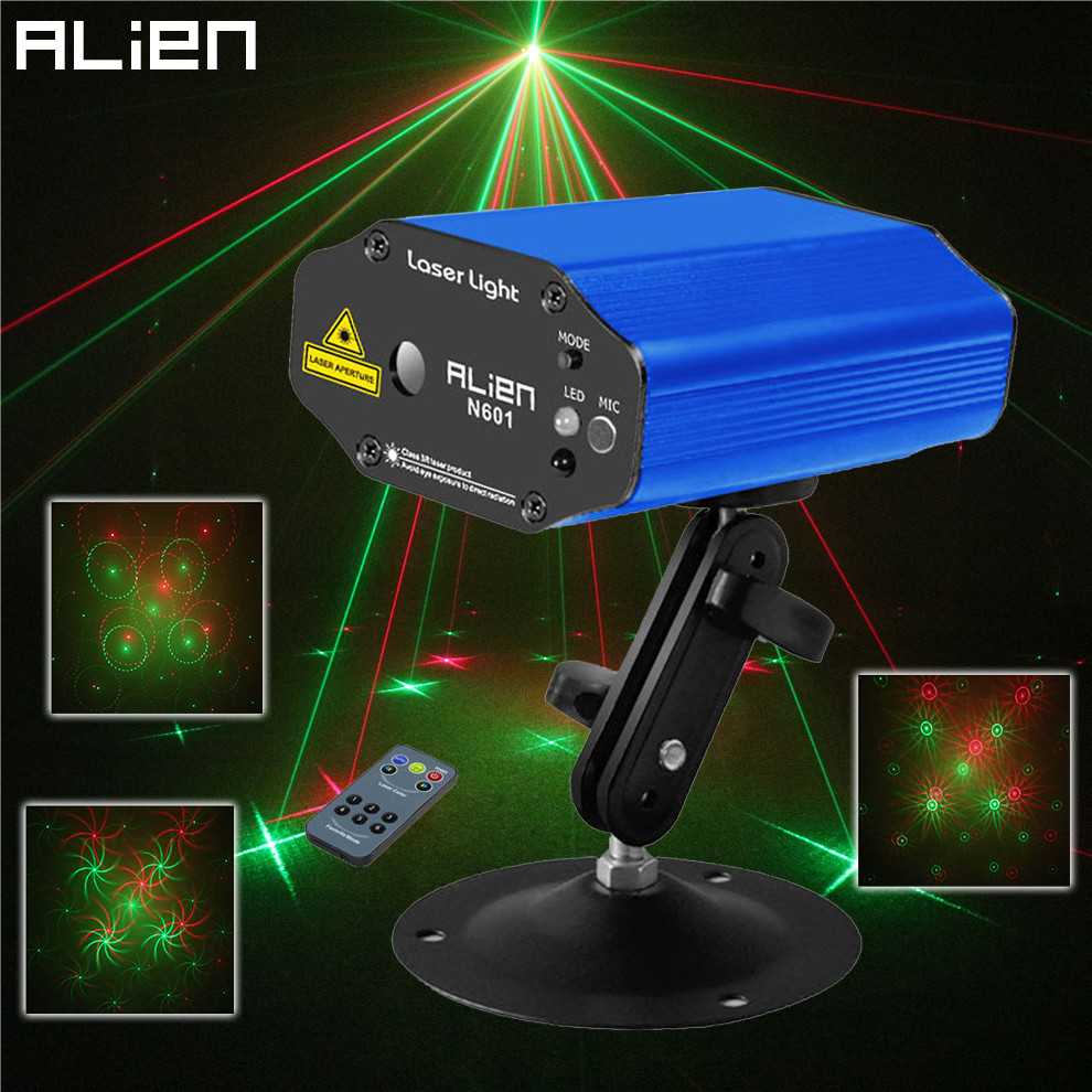 ALIEN New Mini Remote Green Red Laser Light Projector DJ Disco Party Laser Stage Lighting Effect Holiday Bar Club Lights