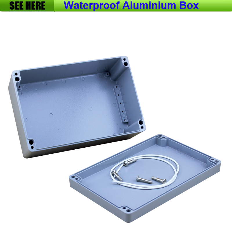 Free Shipping Small SIze Waterproof Box IP67 Aluminium Waterproof  die cast aluminium box 240*160*100mm free shipping 1piece lot top quality 100% aluminium material waterproof ip67 standard aluminium electric box 188 120 78mm