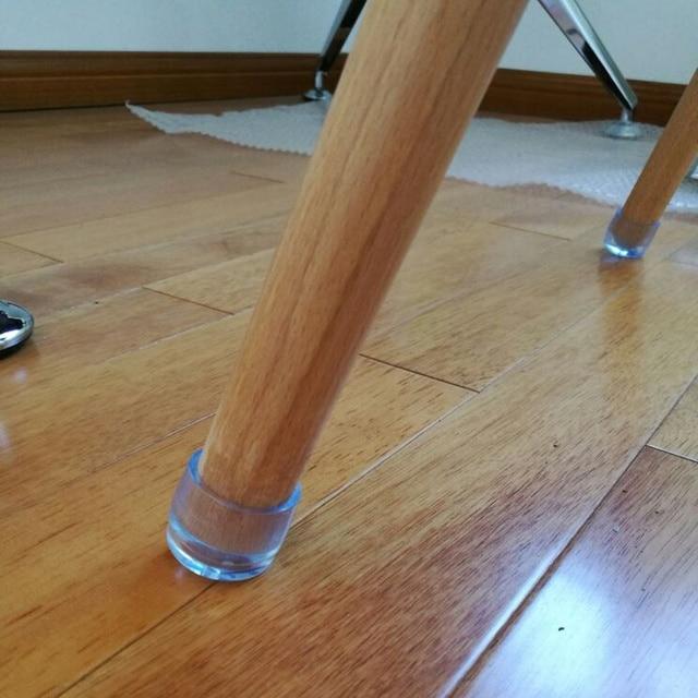 4Pcs Transparent Chair Leg Caps Non-slip Furniture Table Floor Feet Cover Protector Pads Rubber furniture hole plugs Home decor 4