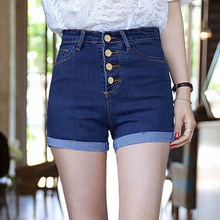 NiceMix Ladies Slim Bottoms Casual shorts 2019 Summer New Fashion Women Jeans High Waist Denim Shorts Bule Short Pants