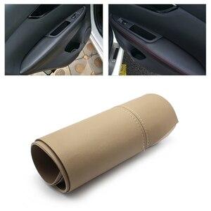Image 1 - 4pcs Car Door Handle Panels Armrest Microfiber Leather Cover Trim For Nissan New Qashqai J11 2016 2017 2018 w/fittings