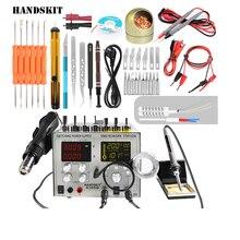 Handskit Питание DC 5 В в 2A 4 в В 1 30 5A фена паяльная станция + паяВ льник станции В 220 В/110 USB 9305D Бесплатная доставка