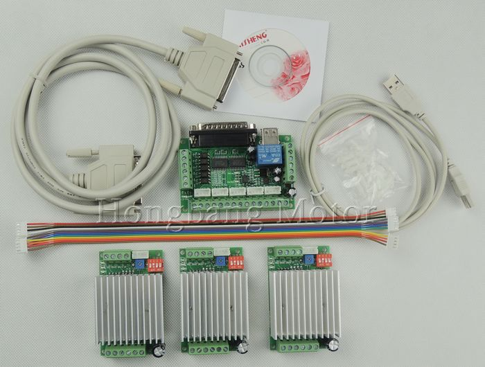 CNC mach3 Router 3 Axis Kit TB6600 3 Axis Stepper Motor Driver Controller kit 4 5A
