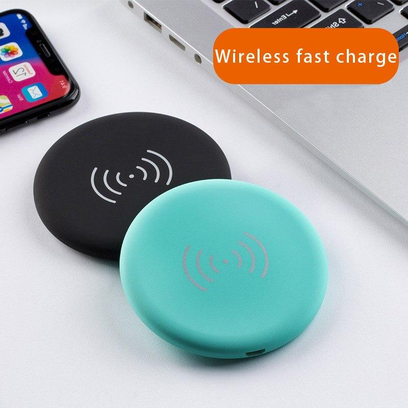 Coloré mini chargeur sans fil pour téléphone qi samsung huawei iphone x DE charge rapide charge rapide auto universel sans fil