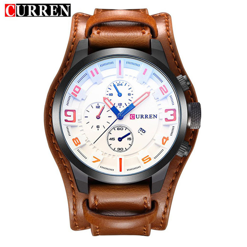 CURREN Luxury Top Brand Men's Sports Watches Fashion Casual Quartz Watch Men Military Wrist Watch Male Clock Relogio Time 8225 2017 lige luxury top brand men s sports watches fashion casual quartz watch men military wrist watch male clock relojes hombre